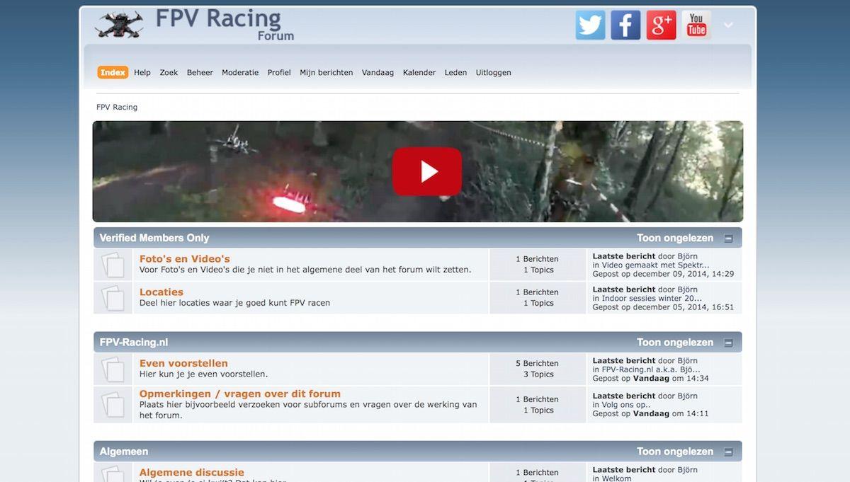 Nederlands FPV Racing forum opgericht